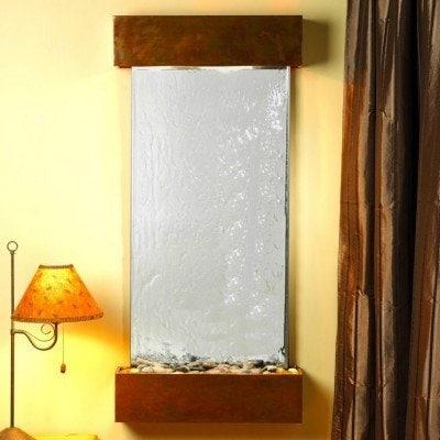 Adagio Cascade Springs With Silver Mirror in Rustic Copper Finish and Squared Ed