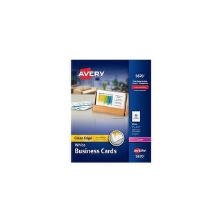 Avery AV5870 Clean Edge Business Card Value Pack w/ High-quality Heavyweight Card Stock