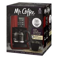 Mr. Coffee Brewing Coffee Maker Style + Taste 12-Cup Advanced Brew Programmable - Red - 14.6 x 11.6 x 9.6