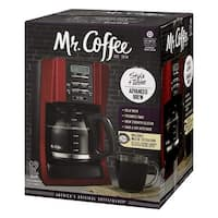 Mr. Coffee Brewing Coffee Maker Style + Taste 12-Cup Advanced Brew Programmable - Red