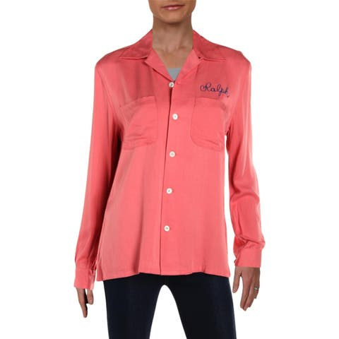 Polo Ralph Lauren Womens Casual Top Button-Down Long Sleeves