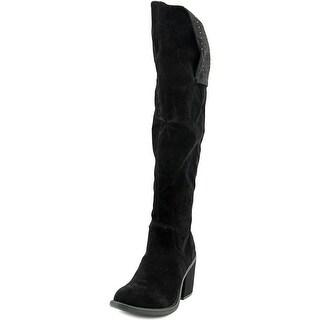 Groove Katarina Round Toe Canvas Knee High Boot