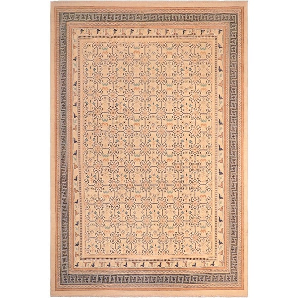 """Bohemien Ziegler Vanna Hand Knotted Area Rug -8'3"""" x 9'11"""" - 8 ft. 3 in. X 9 ft. 11 in.. Opens flyout."""