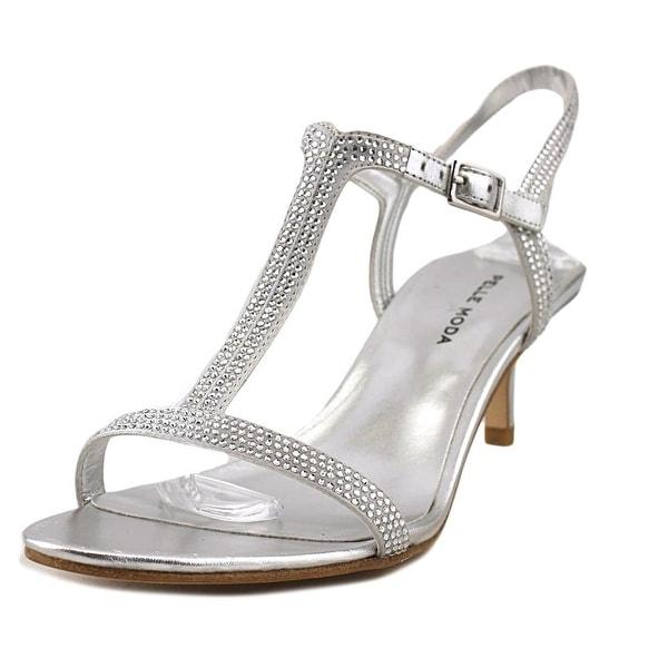 Pelle Moda Fact Silver Metalllic Sandals