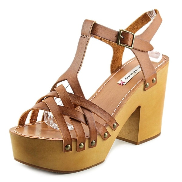 Coolway Chaira Women Open Toe Leather Platform Sandal