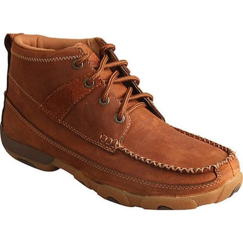 Twisted X Boots Women's WDM0031 Driving Moc Oiled Saddle Leather