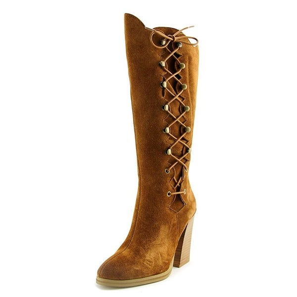 Sbicca Dante Women Round Toe Leather Tan Knee High Boot