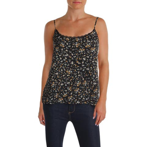 Aqua Womens Camisole Top Strapless Lace