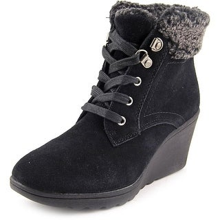 White Mountain Kipper Women  Round Toe Suede Black Winter Boot
