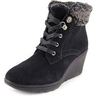 White Mountain Kipper Women  Round Toe Suede Black Winter Boot
