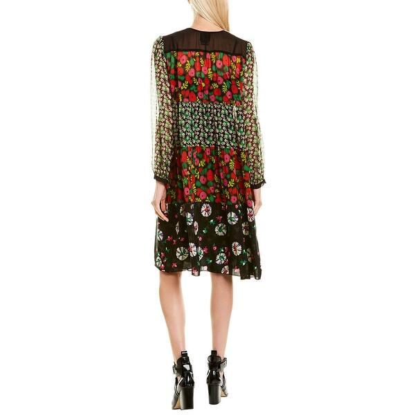 Anna Sui Pop Petunia Shift Dress
