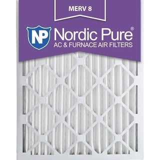 Nordic Pure 20x25x2 Pleated MERV 8 AC Furnace Air Filters Qty 3