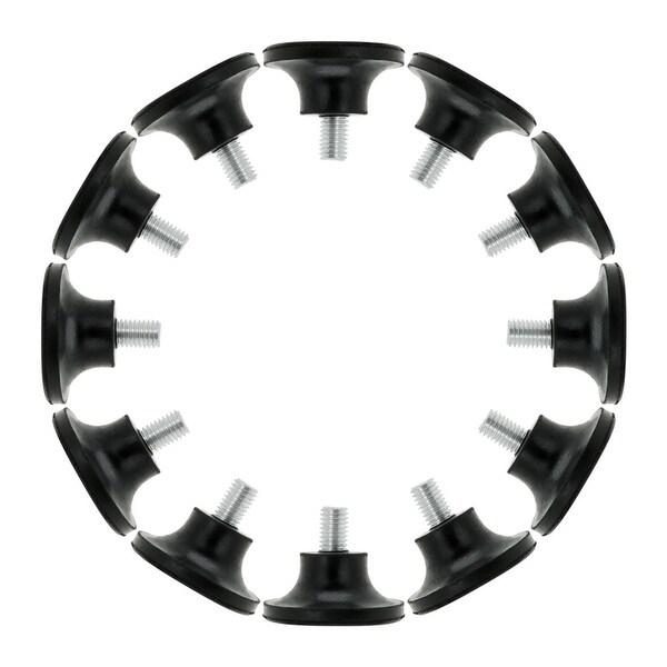 M10 x 15 x 48mm Screw on Furniture Glide Leveling Feet Floor Protector Adjustable Leveler 12pcs