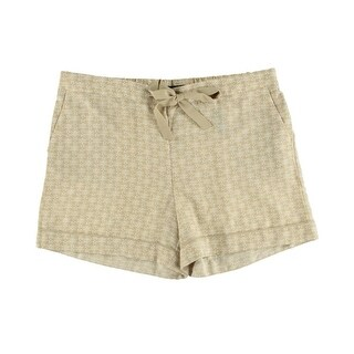 Tommy Hilfiger Womens Printed Contrast Trim Casual Shorts