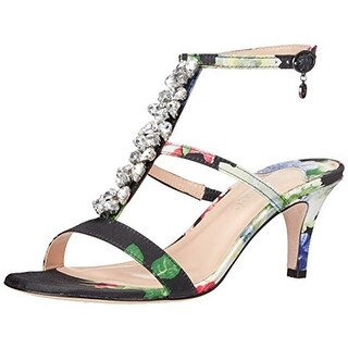 J. Renee Womens Maricel Embellished Floral Print Dress Sandals - 7 narrow (aa,n)