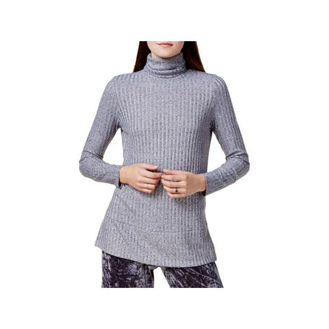 Kensie Womens Turtleneck Sweater Knit Ribbed
