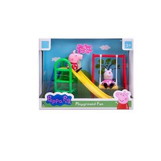 Peppa Pig Playground Fun Playset with Peppa Pig & Suzy Sheep|https://ak1.ostkcdn.com/images/products/is/images/direct/80de4fc9048ac2b71f8dc4764198f94b191e07a6/Peppa-Pig-Playground-Fun-Playset-with-Peppa-Pig-%26-Suzy-Sheep.jpg?impolicy=medium