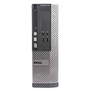 Dell OptiPlex 390 Desktop Computer SFF Intel Core I3 2100 3.1G 4GB DDR3 250G Windows 7 Pro 1 Year Warranty (Refurbished) - Black