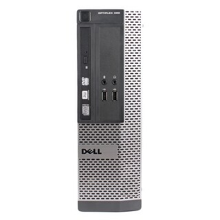 Dell OptiPlex 390 Desktop Computer SFF Intel Core I3 2100 3.1G 4GB DDR3 500G Windows 10 Pro 1 Year Warranty (Refurbished)