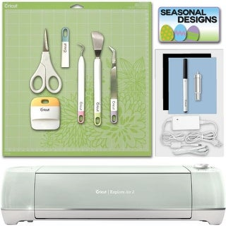 Cricut Explore Air 2 Machine Mint Bundle with Tool Kit & Seasonal Designs