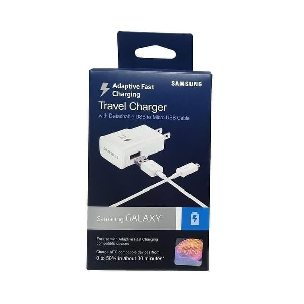 Official Samsung AFC Adaptive Fast Wall/Travel Charger with TYPE C USB &  Stylus - for Tab C, S8/S8+ - White