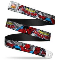 Marvel Comics Marvel Comics Logo Full Color The Amazing Spider Man Stacked Seatbelt Belt
