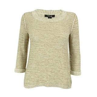 Style & Co. Women's 3/4 Sleeve Marled Knit Sweater - rye combo