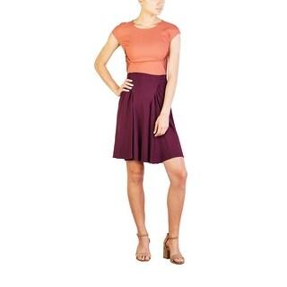 Prada Women's Acetate Viscose Blend Pleaded Dress Two Tone