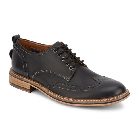 Lucky Brand Mens Hudson Leather Wingtip Oxford Shoe