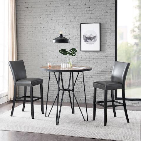 Home decor 2pcs PU Dining Chair- Gray
