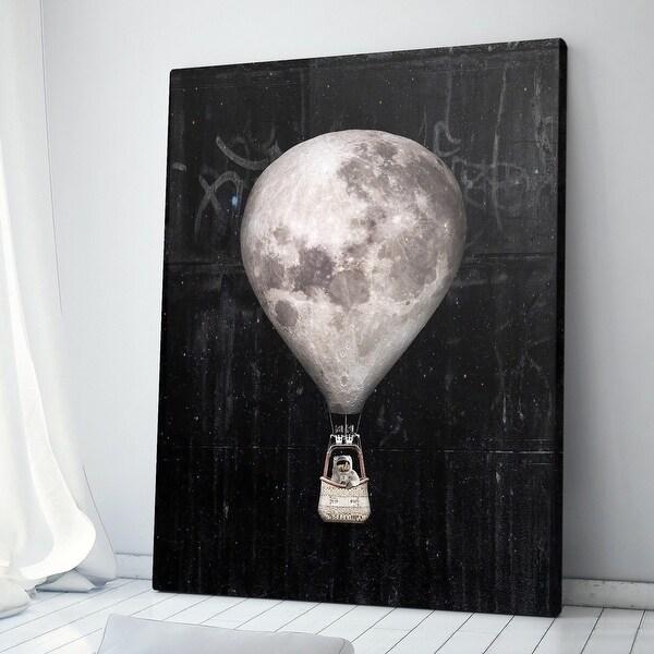 IKONICK Moon Balloon Canvas Art