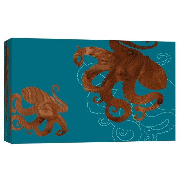 "PTM Images 9-102035 PTM Canvas Collection 8"" x 10"" - ""Octopus 1"" Giclee Octopuses Art Print on Canvas"