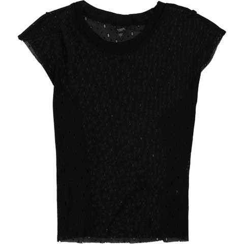 Guess Womens Perforated Basic T-Shirt