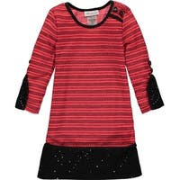 Bonnie Jean Girls 4-6X Knit Shift Dress - Red