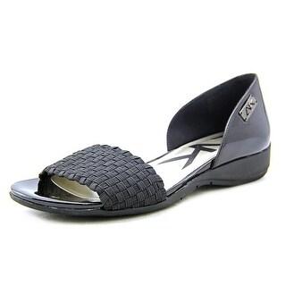 Anne Klein Sport Kea Women Open-Toe Synthetic Black Flats
