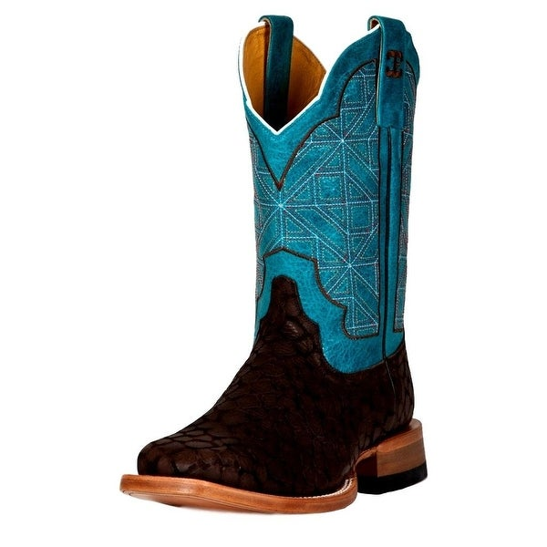 Cinch Western Boots Womens Cowboy Leather Puzzle Brown