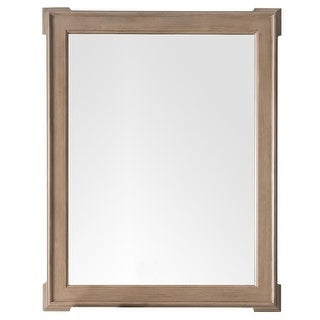 James Martin Furniture Pasadena 35 in. Mirror, Warm Taupe