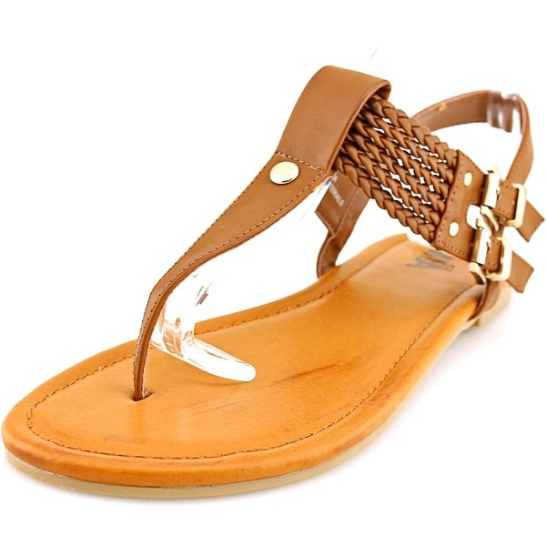 Mia Ivelise Women Open Toe Synthetic Brown Thong Sandal