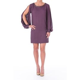 Elizabeth and James Womens Lindvall Embellished Boatneck Cocktail Dress