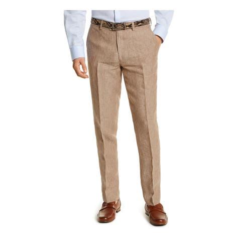 BAR III Mens Beige Striped Work Pants Size 33W X 32L - 33W X 32L
