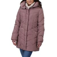 Steve Madden Womens Puffer Coat Winter Quilted