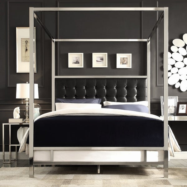 Solivita Chrome Metal Poster Bed by iNSPIRE Q Bold. Opens flyout.