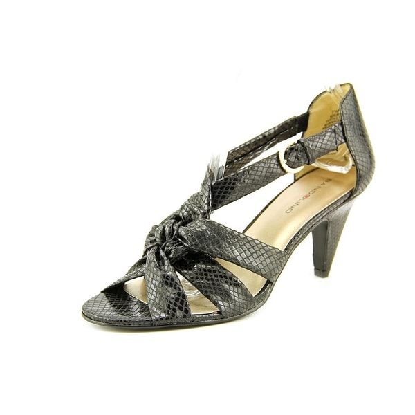 Bandolino Dalle Open-Toe Canvas Heels