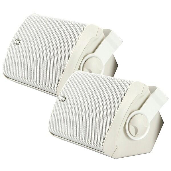 Poly-Planar MA7500W Compact Box Speaker - (Pair) White