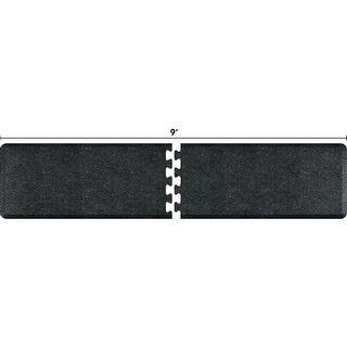 WellnessMats Anti-Fatigue Puzzle Set Office & Kitchen Mat, 9 Feet by 2 Feet, Granite Onyx - granite onyx