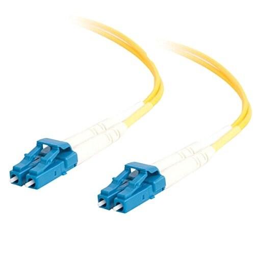 C2g 28758 3M Lc-Lc 9/125 Os1 Duplex Singlemode Pvc Fiber Optic Cable - Yellow
