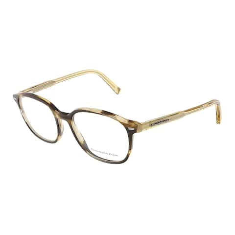 Ermenegildo Zegna EZ5007/V 062 Horn Brown Rectangle Opticals - 51-17-145