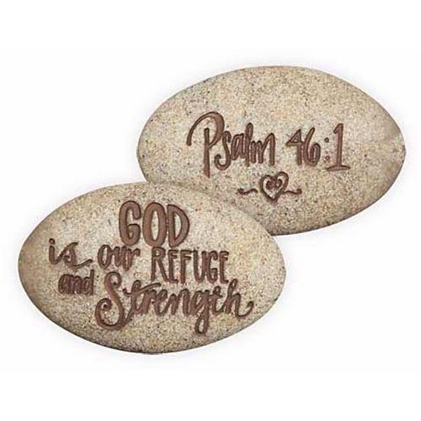 AngelStar 73667 Stone-Psalm-God Is Our Refuge And Strength-Psalm 46-1