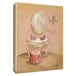 """PTM Images 9-154367  PTM Canvas Collection 10"""" x 8"""" - """"Boudoir II"""" Giclee Toiletries Art Print on Canvas"""