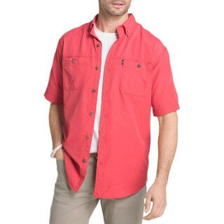 G.H. Bass & Co. Mens Explorer Button-Down Shirt Fishing Short Sleeves